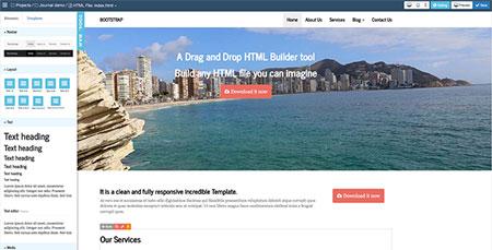 ساخت قالب های حرفه ای Bootstrap با اسکریپت Bootstrap HTML Builder نسخه ۱٫۴