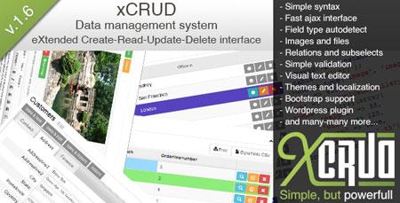 CodeCanyon xCRUD v1.6 اسکریپت مدیریت اطلاعات xCRUD