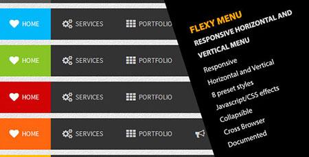 اسکریپت منوی زیبای CSS با نام Flexy Menu