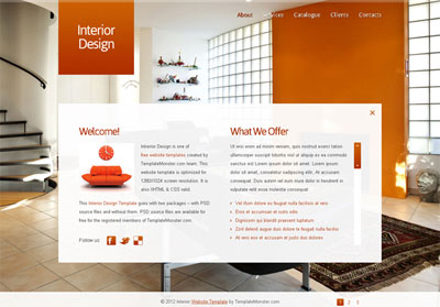 دانلود قالب ایجکس Interior Design