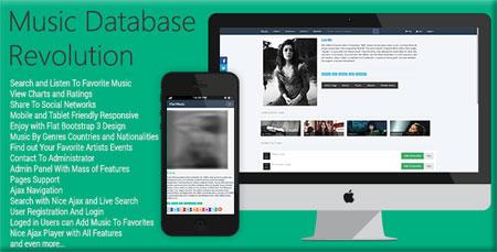 ایجاد وب سایت موسیقی با اسکریپت Music Database