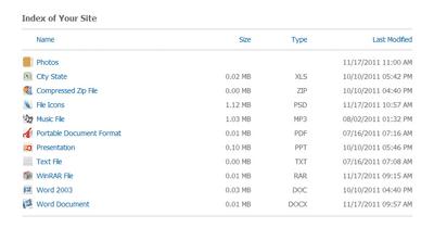 اسکریپت نمایش لیست فایل ها Directory Explorer نسخه 1.3