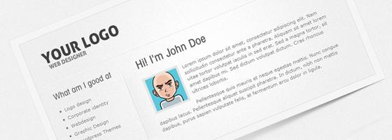 قالب vCard نمایش نمونه طراحی ها ProFolio