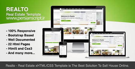 قالب Realto سایت املاک به صورت HTML