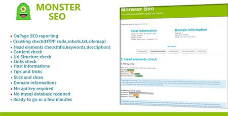 اسکریپت نمایش اطلاعات و میزان سئو Monster Seo