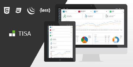 قالب مدیریت وب سایت Tisa به صورت HTML