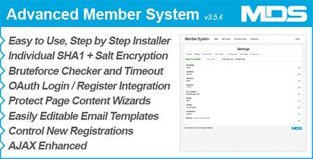 اسکریپت مدیریت کاربران Advanced Member System