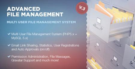 دانلود رایگان میزبانی حرفه ای وب سایت اسکریپت مدیریت فایل Advanced File Management