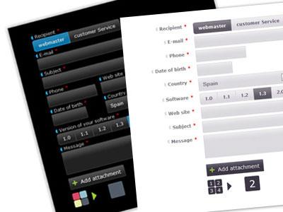 اسکریپت فرم تماس با ما ایجکس با قابلیت ارسال فایل Ajax Contact Form