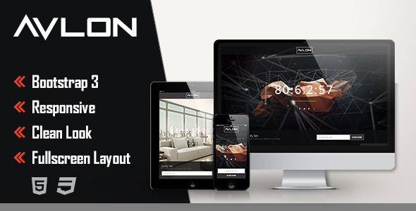 قالب صفحه در دست ساخت Avlon به صورت HTML