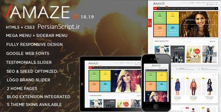قالب فروشگاهی و زیبای مجنتو Amaze نسخه 1.7