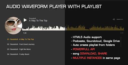 اسکریپت اجرای موسیقی در وب سایت Audio Waveform Player