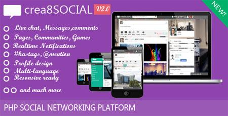 اسکریپت شبکه اجتماعی crea8social نسخه ۲
