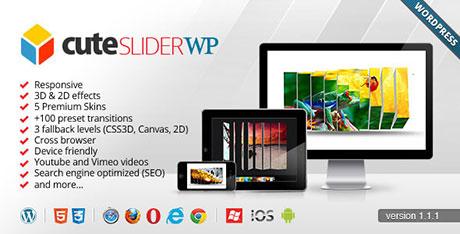 ایجاد اسلایدر دو و سه بعدی در وردپرس Cute Slider به صورت HTML5