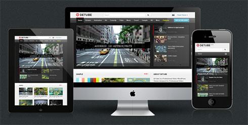 قالب زیبای deTube وردپرس،بادی پرس مناسب برای سایتهای ویدئو،مجلات خبری