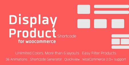افزونه نمایش محصولات ووکامرس Display Product