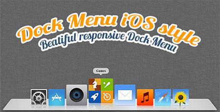 اسکریپت منوی زیبا Dock Menu به صورت HTML5 و CSS3