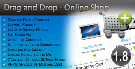 ecommerce drag and drop online shop اسکریپت فروشگاه محصولات Drag and Drop Online Shop