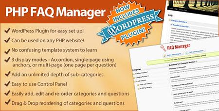 اسکریپت مدیریت سوالات متداول Faq Manager با قابلیت اتصال به وردپرس