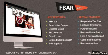 اسکریپت نمایش دموی قالب ها و اسکریپت ها FBar نسخه ۱٫۳