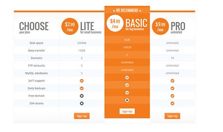 اسکریپت لیست جداول قیمت Flat Pricing Table