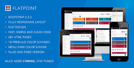 قالب مدیریت وب سایت Flat Point به صورت HTML5