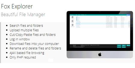 fox explorer اسکریپت مدیریت فایل ایجکس Fox Explorer