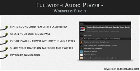 اجرای موسیقی آنلاین در وردپرس با Fullwidth Audio Player