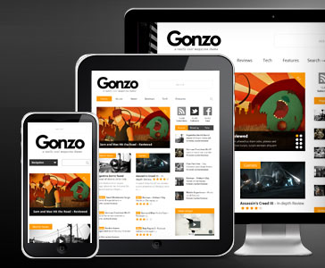 پوسته زیبای مجله خبری Gonzo وردپرس