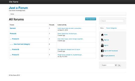 اسکریپت ایجاد تالار گفتگو Just a Forum نسخه 2.1.1