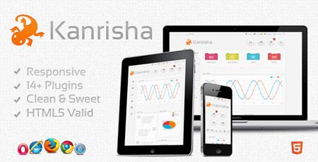 پوسته HTML5 مدیریت سایت Kanrisha