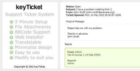 اسکریپت ارسال تیکت و پشتیبانی keyTicket نسخه 1.2
