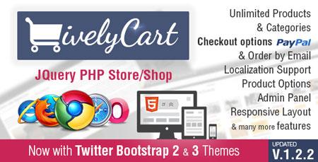 اسکریپت فروشگاه ساز ایجکس اینترنتی LivelyCart نسخه 1.2.2