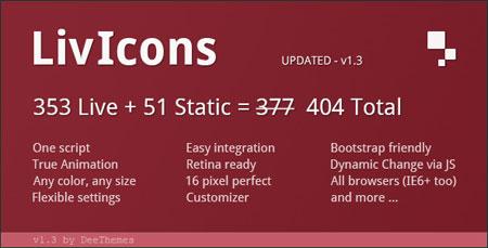 livicons مجموعه آیکون های متحرک برای سایت LivIcons