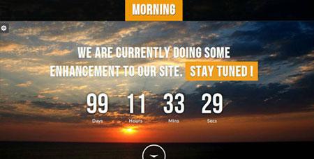 قالب صفحه در دست ساخت Morning به صورت HTML