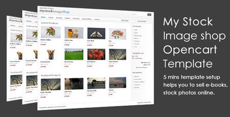 قالب فروشگاه My Stock Image Shop برای سیستم Open Cart