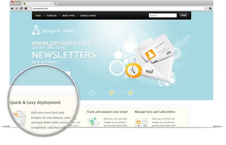 قالب زیبای penguinMail سیستم جوملا 2.5