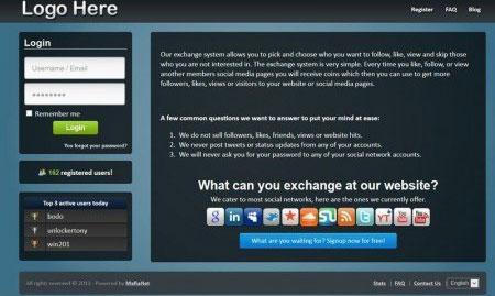 اسکریپت افزایش بازدید و تبادل امتیاز فیسبوک،گوگل،توییتر و…