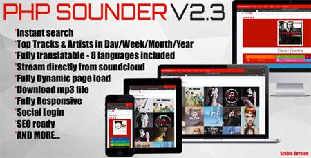 اسکریپت موتور جستجوی موسیقی PHP SOUNDER نسخه ۲.۲