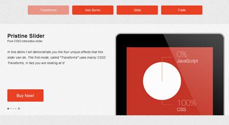 pristine slider pure css3 ایجاد اسلایدر های زیبا به وسیله CSS3