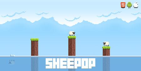اسکریپت بازی آنلاین HTML و اندروید جهش گوسفند Sheepop