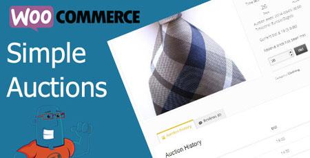 افزونه حراجی محصولات ووکامرس WooCommerce Simple Auctions نسخه 1.1.9