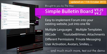 اسکریپت انجمن ساز Simple Bulletin Board نسخه ۴.۲