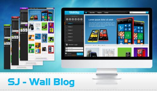 قالب مجله خبری و تکنولوژی SJ Wall Blog جوملا 2.5