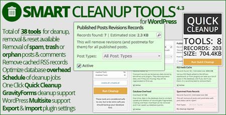 بهینه سازی و پاکسازی پایگاه داده وردپرس با افزونه Smart Cleanup Tools
