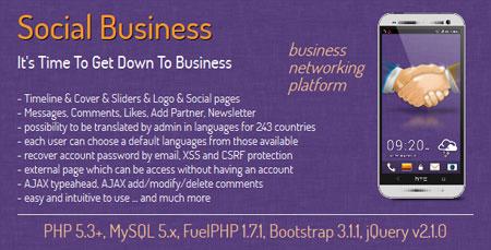 social business اسکریپت جامعه مجازی مشاغل Social Business