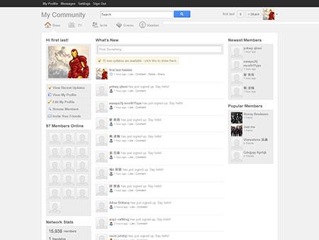 قالب زیبای Google Plus برای Social Engine سری 4
