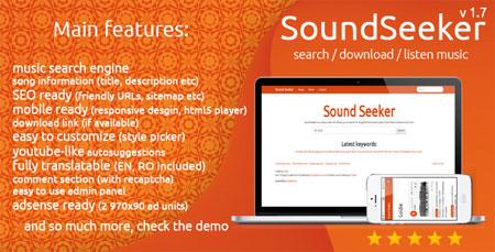 soundseeker اسکریپت موتور جستجوی موسیقی SoundSeeker