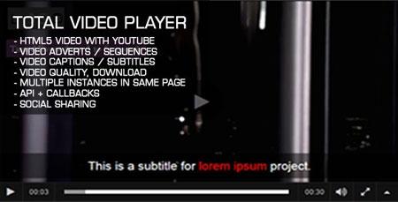 اسکریپت اجرای ویدئو در وب سایت Total Video Player نسخه 1.02
