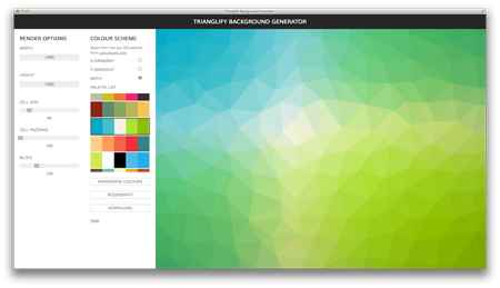 اسکریپت ابزار آنلاین ایجاد تصاویر Trianglify